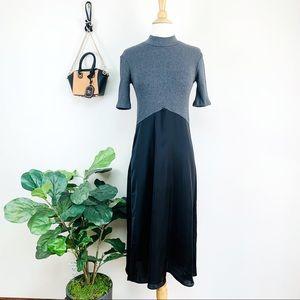 🎈New Zara ribbed color block midi dress